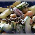 ミックスビーンズの塩昆布サラダ