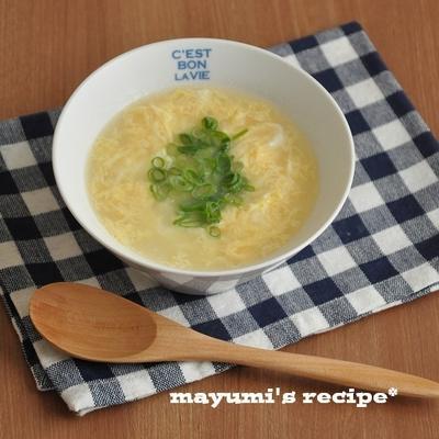 1週間節約献立~簡単だけどすごくおいしい♪たまごスープ~