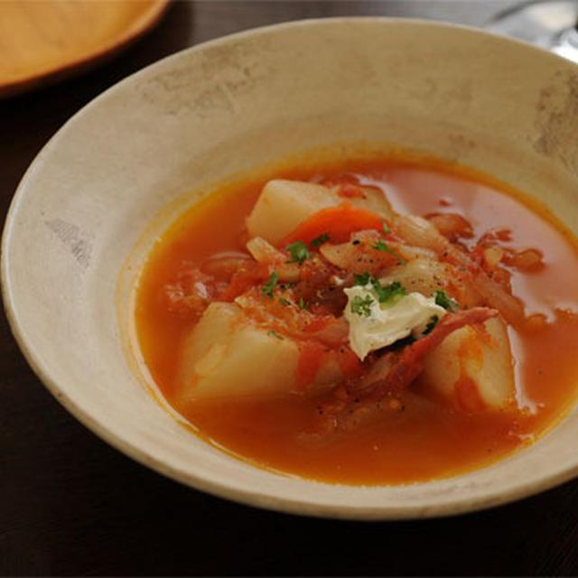 カブとトマトのスープ煮