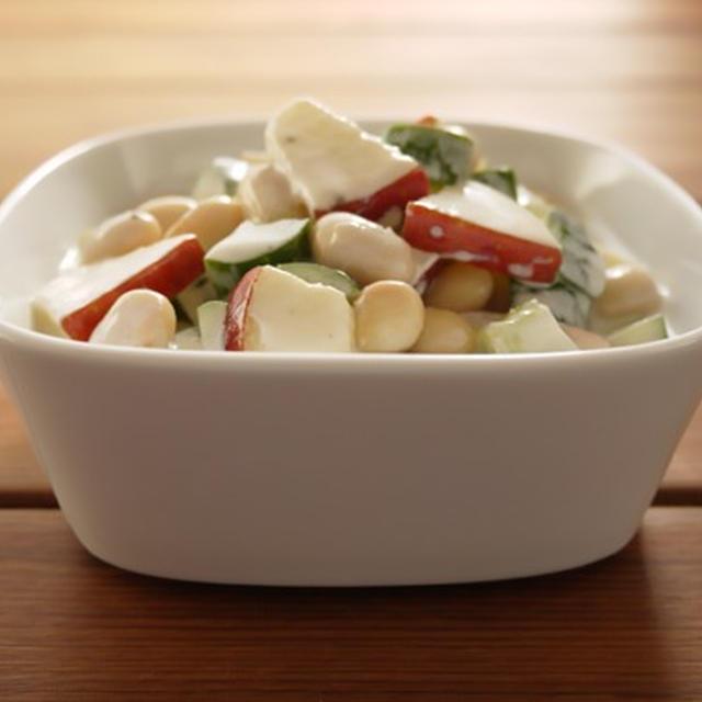 大豆ときゅうりのヨーグルトサラダ