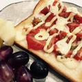 ベビーチーズでピザ風