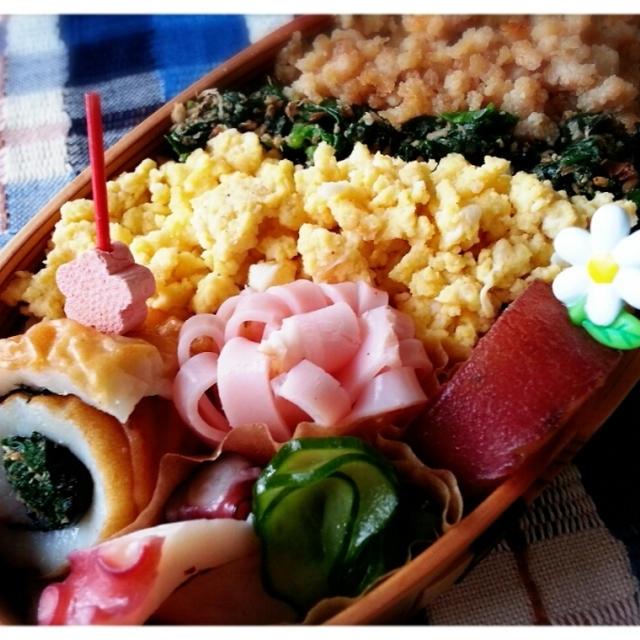 長女VS母のお弁当対決~♡( *´艸`)久しぶりに三色そぼろ弁当作ってみました~♪