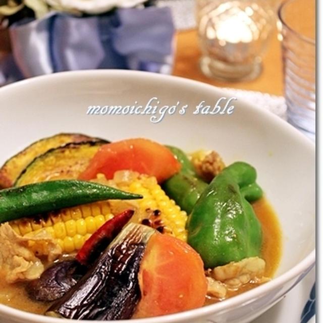夏野菜のスープカレー♪