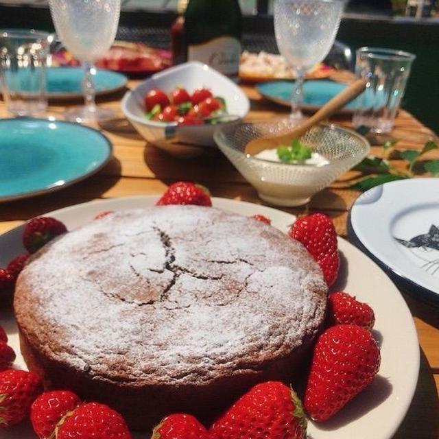 *結婚記念日のおうちランチ。デザートはガトーショコラで。 *命に関わることを決める大変さ。