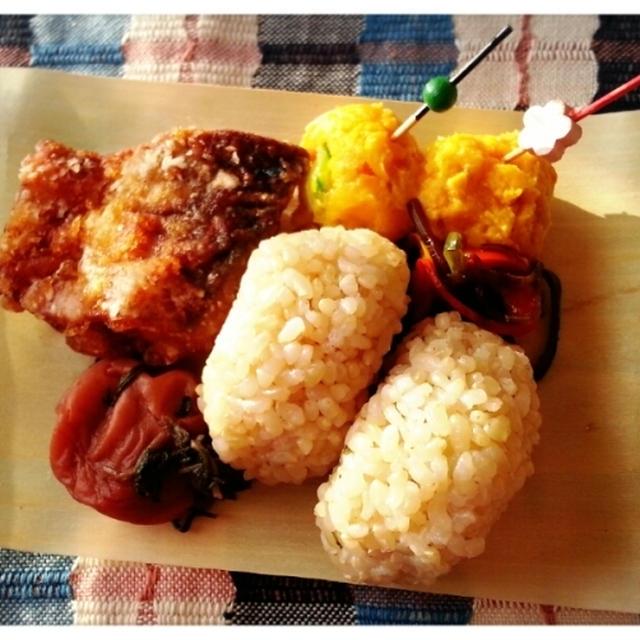 秋の味覚満載弁当~♪な~んちゃって松茸ご飯弁当です♡( *´艸`)