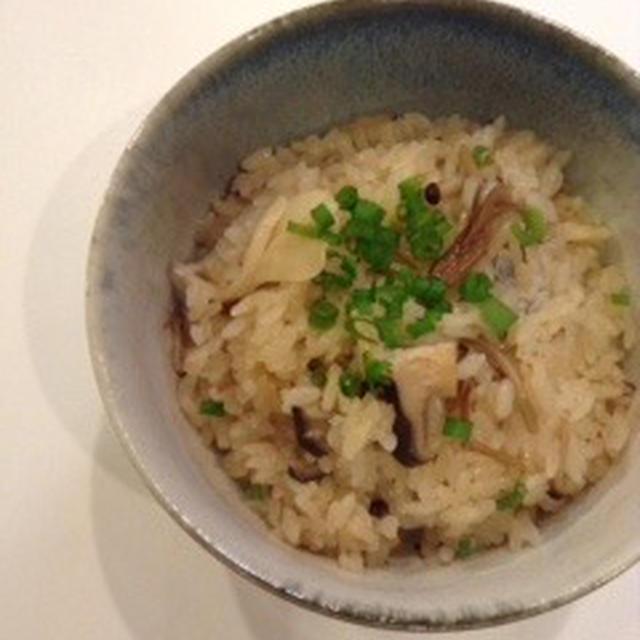 団地ごはんin軽井沢 「三種のきのこご飯」