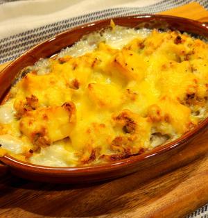 高野豆腐の肉味噌グラタン