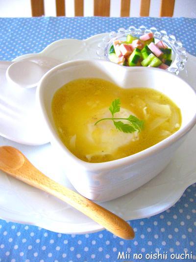 レンジで簡単♪チーたまスープ