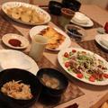 和食ご飯*かぶと鶏ひき肉のそぼろ煮・かつおのサラダ・炊き込みご飯