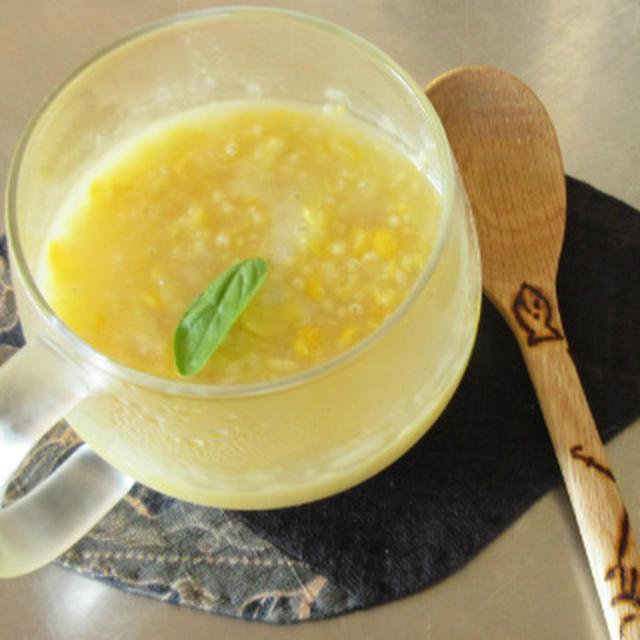もちキビともろこしの冷製スープ