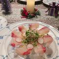 クリスマスに☆ライムで爽やか♪カルパッチョ