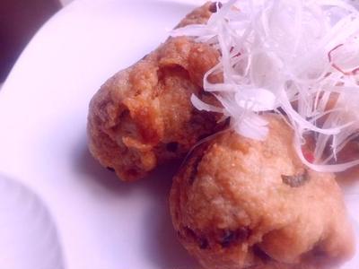 ふわふわ山芋鶏団子・ピリ辛風味♪