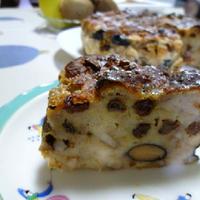 残り物の食パンと丹波黒黒豆で、焼き菓子~