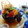 みずみずしい夏野菜と茄子そうめん