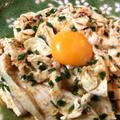 胡麻と小葱を大量に。柔らかさを満喫するしっとり鶏肉大蒜ユッケ(糖質5.3g) by ねこやましゅんさん