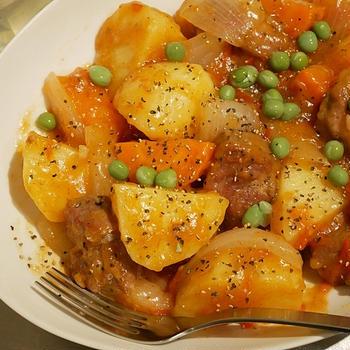 洋風トマト肉じゃが・角切り豚肉編 ~2億5回食べても飽きない!