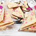 すぐできる【簡単ハートのチョコバーク】チョコレートを溶かして固めるだけです(^^)