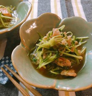 5分で簡単♡節約レシピ♡豆苗とツナの焼き浸し
