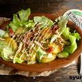 【簡単!!カフェサラダ】じゃがいも、ベーコン、しめじの炒めサラダ