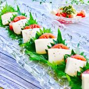 お豆腐で和風カプレーゼ❤︎(。☌︎ᴗ☌︎。)