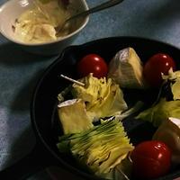 昔のレシピからその②~カマンベールとキャベツとトマトの焼きカプレーゼ~