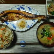 胃カメラ、無事終了しました!!夕食は、ほっけ焼き定食。