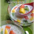 タピオカとココナッツミルクと南国フルーツ