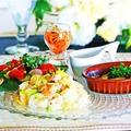 ココナッツオイルと野菜炒飯でワンプレート