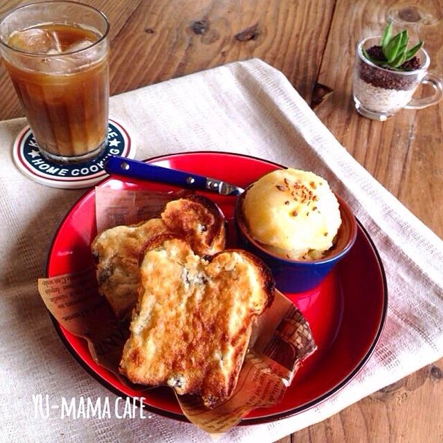 脱!まんねりトーストに♫アーモンドバター*朝ごはん*作り置き*パン*簡単*アーモンドトースト*