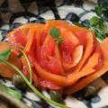 スモークサーモンとグレープフルーツの薔薇