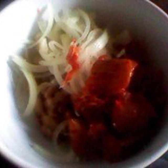 ワンボール酵素ご飯:キムチ納豆ご飯
