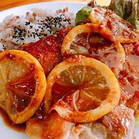 鶏の醤油麹照り焼きレモン風味