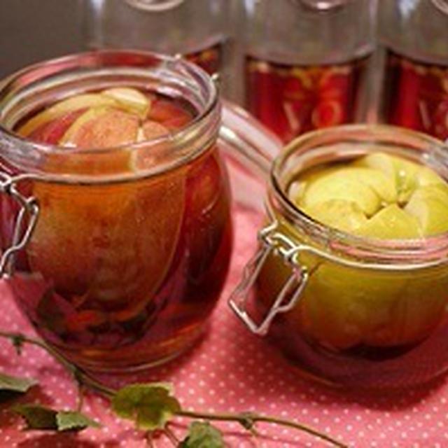 りんごの自家製フルーツブランデー