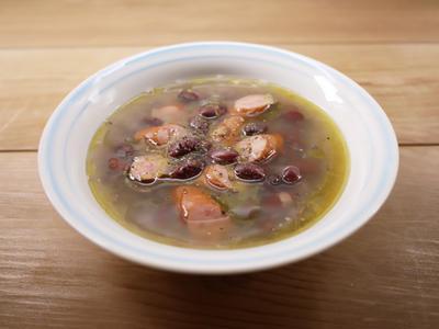 金時豆とウインナーのスープ