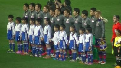 サッカー日本代表☆プレーヤーズエスコートキッズ