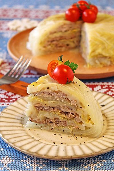 炊飯器で簡単!餃子の皮でもっちり白菜豚バラドーム