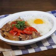 ハッシュドビーフ風 トマトとキノコのすき焼きライス