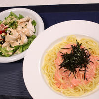 タラコソースシシリー風(スパゲッティ)♪ ~サイゼの人気パスタの再現~