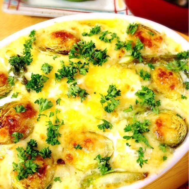 豆腐ヨーグルトでエッググラタン。