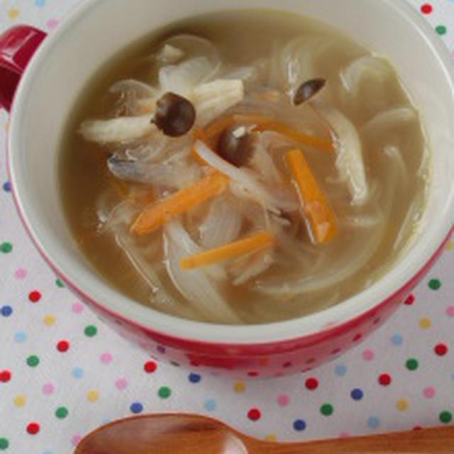 野菜の旨味で作る!!たっぷり新タマネギの梅風味スープ