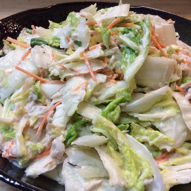 ハマチフレークの白菜サラダ(^ ^)