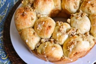 【アップルパイの味 くるみとりんごのちぎりパン】シナモン香るやさしい味