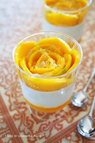 南国の魅惑の味フルブラマンゴー&ココナッツのブラン・マンジェ