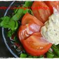 スパイシーマヨネーズでスイスチャードとトマトの簡単サラダと頑張った雑草抜き♪ by kewpieさん