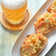 くらしのアンテナ掲載!ビールに合う〜ヘルシーマヨなしポテサラとふわふわ豆腐チヂミ。