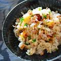 和風しょうゆドレッシング×豚ひき肉、筍、しいたけ = おかわり続出 簡単 秋のスタミナ炊き込みご飯 by 青山 金魚さん