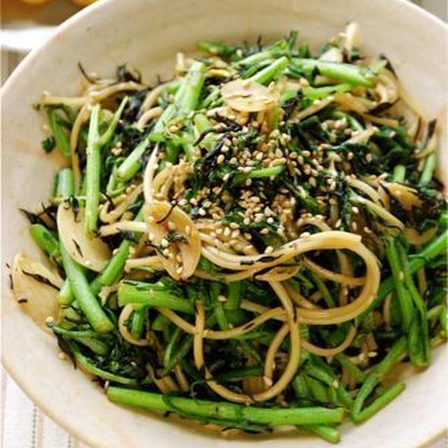 ひじきと香り野菜の炒め素麺