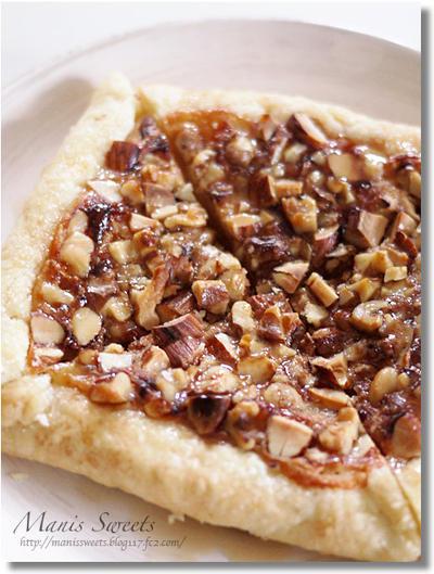「大きいとろけるスライス4種のチーズブレンド」でたっぷりナッツのパイ