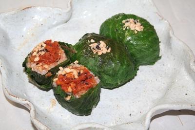 ケニップサムバプ -- えごま葉包みご飯