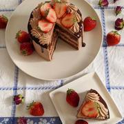 チョコレートドリップケーキ